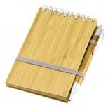 Libreta con Tapas de Bamboo