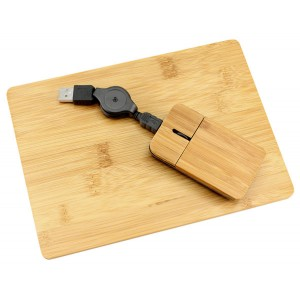 Set mouse+Pad de Bamboo